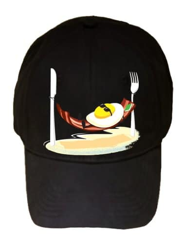 Good-Morning-Egg-Sunny-Side-up-Relaxing-in-Bacon-Hammock-100-Adjustable-Cap-Hat-0