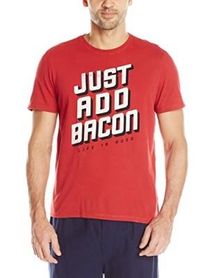 Life-is-good-Mens-Sleep-Just-Add-Bacon-Tee-0