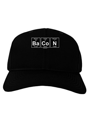 TooLoud-Bacon-Periodic-Table-of-Elements-Adult-Dark-Baseball-Cap-Hat-0