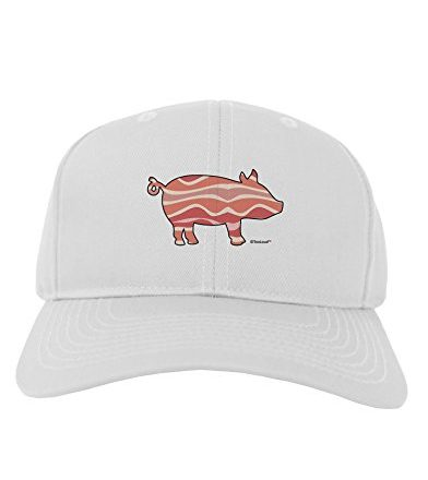 TooLoud-Bacon-Pig-Silhouette-Adult-Baseball-Cap-Hat-0