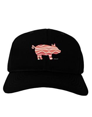 TooLoud-Bacon-Pig-Silhouette-Adult-Dark-Baseball-Cap-Hat-0