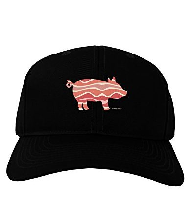 TooLoud-Bacon-Pig-Silhouette-Adult-Dark-Baseball-Cap-Hat-0