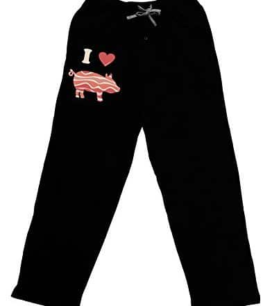 TooLoud-I-Heart-My-Bacon-Pig-Silhouette-Adult-Lounge-Pants-Black-0