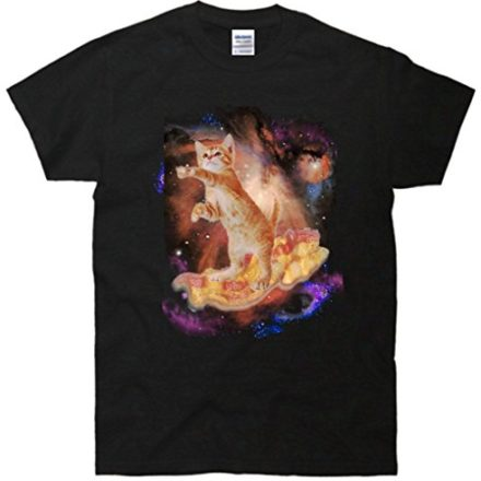 Cat-Surfing-Bacon-In-Space-T-Shirt-0