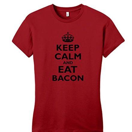 Comical-Shirt-Juniors-Keep-Calm-and-Eat-Bacon-T-Shirt-0