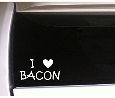 I-Love-Bacon-6-Vinyl-Sticker-Decal-Wall-Car-Laptop-L60-Funny-Pig-Farming-Farm-Bacon-Lover-Pork-Farmer-Animals-Pets-Cook-Chef-Cater-Food-0