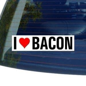 I-Love-Heart-BACON-Window-Decal-Bumper-Sticker-0