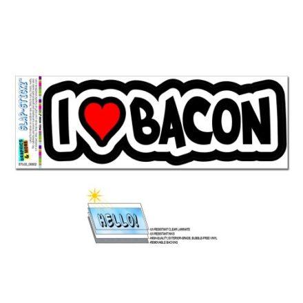 I-Love-Heart-Bacon-SLAP-STICKZTM-Automotive-Car-Window-Locker-Bumper-Sticker-0