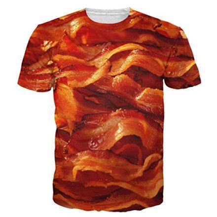 T-shirt-3D-Print-Sizzlin-Bacon-Breakfast-Funny-Short-Sleeves-S-0