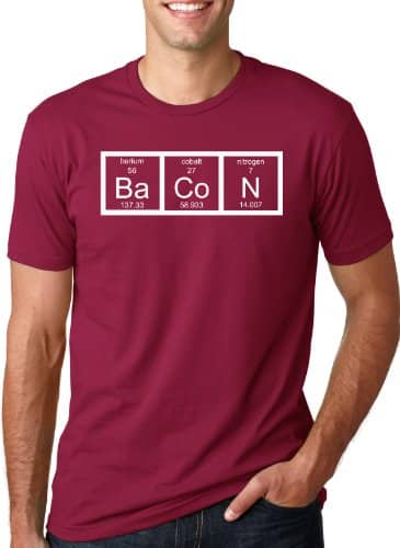 Mens the chemistry of bacon t shirt funny brunch periodic table urtaz Images