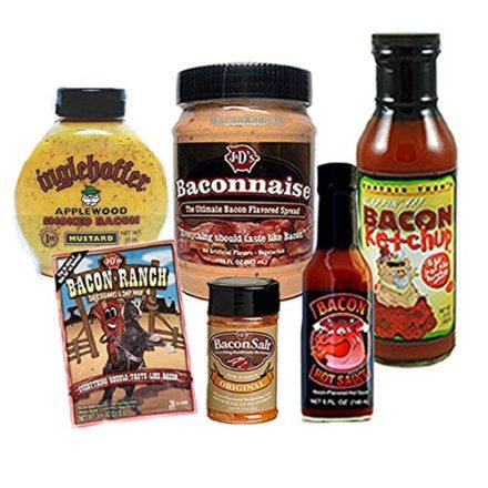 Bacon-Condiment-Sampler-Pack-6pc-Gift-Set-Baconnaise-Bacon-Mayo-Bacon-Ketchup-Bacon-Hot-Sauce-Original-Bacon-Salt-Bacon-Mustard-Bacon-Ranch-0