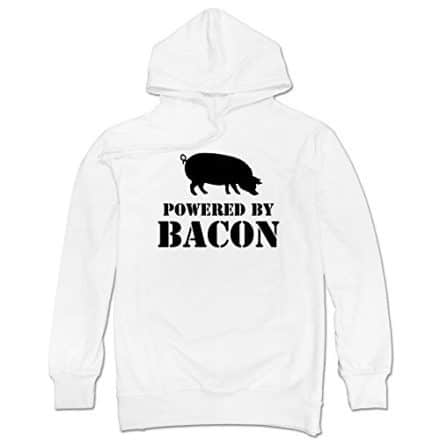 Mchero-Mens-Powered-By-Bacon-Funny-Bacon-Lover-Hooded-Sweatshirt-0