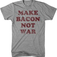 Youth-Make-Bacon-Not-War-T-Shirt-funny-Bacon-shirt-I-love-bacon-tee-for-kids-0